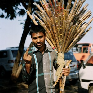 Nicolas Demeersman -The Flutes Seller, Mumbaï, India 2013